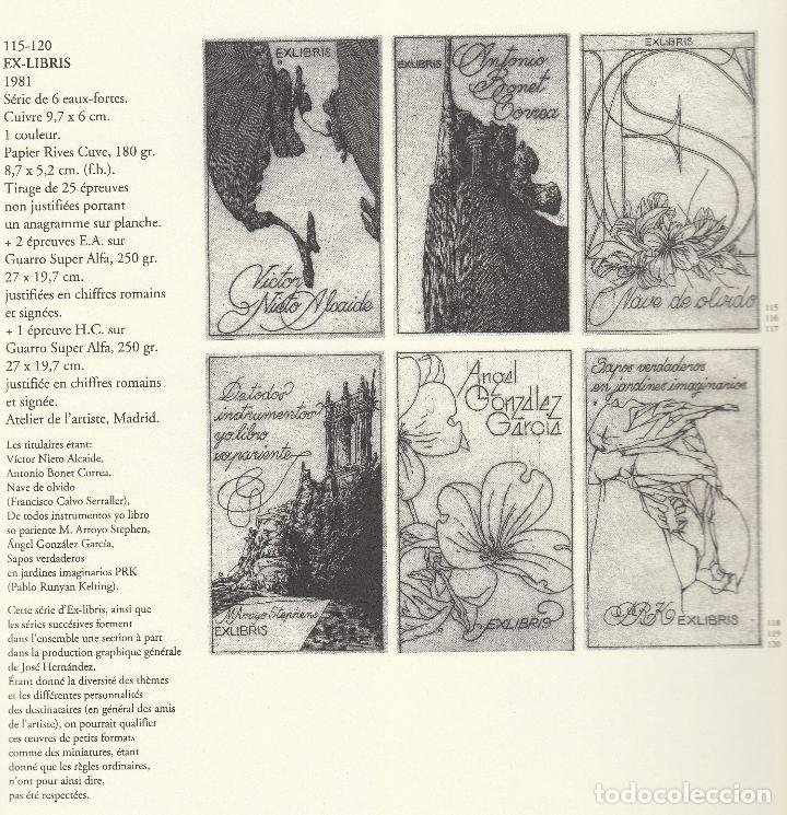 Libros de segunda mano: JOSÉ HERNÁNDEZ OBRA GRÁFICA COMPLETA 1967 1996 CATÁLOGO RAZONADO DEDICADO Y FIRMADO A MANO MUY RARO - Foto 16 - 140591754