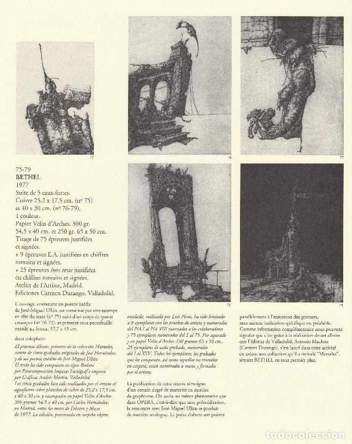 Libros de segunda mano: JOSÉ HERNÁNDEZ OBRA GRÁFICA COMPLETA 1967 1996 CATÁLOGO RAZONADO DEDICADO Y FIRMADO A MANO MUY RARO - Foto 32 - 140591754