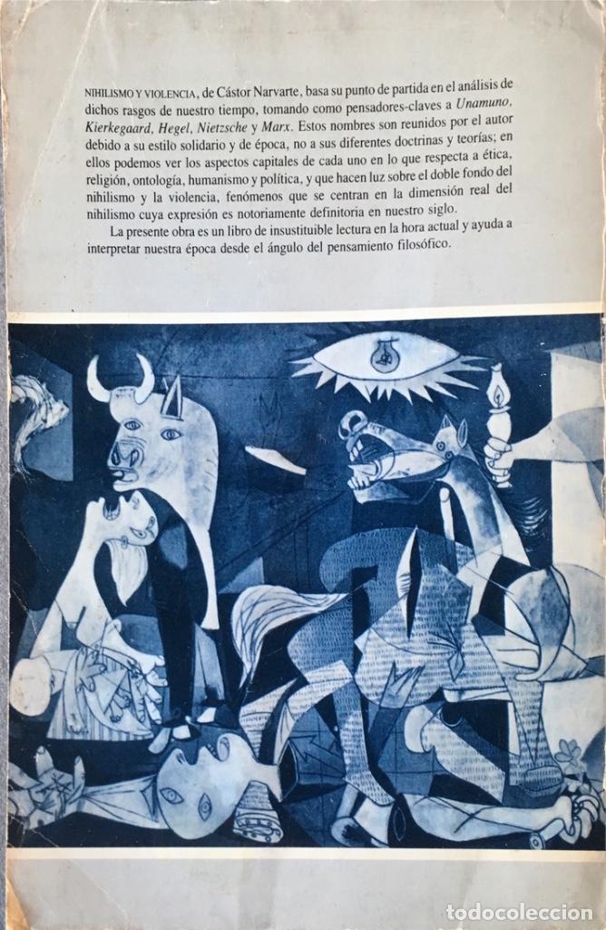 Libros de segunda mano: Nihilismo y violencia. Cástor Narvarte. - Foto 2 - 140660442