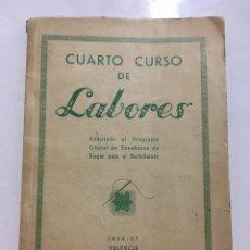 Libros de segunda mano: CUARTO CURSO DE LABORES. 1956 - 57. VALENCIA. EDICIONES ALFARO.. Lote 140710413