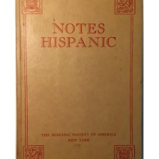 Libros de segunda mano: NOTES HISPANIC. Lote 140746434