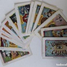 Libros de segunda mano: LIBRERIA GHOTICA. COLECCIÓN DE 24 CROMOS ANTIGUOS SOBRE ILUSIONISMO.1915.MAGIA.. Lote 140898282
