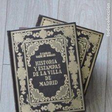 Libros de segunda mano: LIBRO HISTORIA Y ESTAMPAS DE LA VILLA DE MADRID - FACSÍMIL - 2 TOMOS - EDICIONES GINER - 1984. Lote 140903470