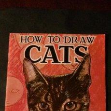 Libros de segunda mano: HOW TO DRAW CATS-GRAN FORMATO-26X35 CM. Lote 140932718
