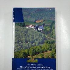 Libros de segunda mano: DOS DISCURSOS ACADEMICOS. JOSE MARIA LACARRA. BIBLIOTECA BASICA NAVARRA Nº 21. TDK54 . Lote 140968174