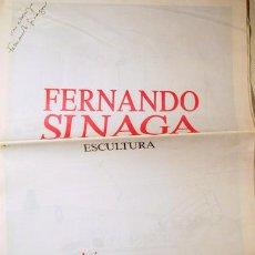 Libros de segunda mano: FERNANDO SINAGA. ESCULTURA - BARCELONA 1987 - DEDICADO. Lote 140977373