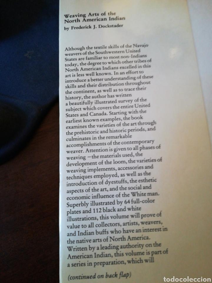 Libros de segunda mano: Weaving arts of the North American Indian - Artes tejeduría indios Norteamérica (inglés) - Kery,1978 - Foto 4 - 141033945