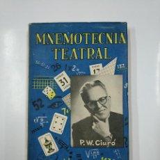 Libros de segunda mano: MNEMOTECNIA TEATRAL. CIURÓ, WENCESLAO. 1959. TDK166. Lote 141093174
