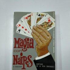 Libros de segunda mano: MAGIA CON NAIPES. - SANTIAGO DE LA RIVA DOMINGUEZ. HERACLIO FOURNIER. TDK50. Lote 141107710