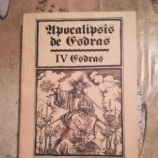 Libros de segunda mano: APOCALIPSIS DE ESDRAS - IV ESDRAS - 1ª EDICIÓN ABRIL 1980. Lote 141109190