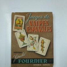 Libros de segunda mano: JUEGOS DE NAIPES ESPAÑOLES. HERACLIO FOURNIER VITORIA 1958. TDK44. Lote 141115186