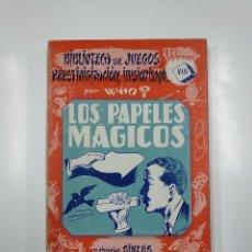 Libros de segunda mano: LOS PAPELES MAGICOS. BIBLIOTECA DE JUEGOS PRESTIDIGITACION ILUSIONISMO. VOLUMEN VIII. POR WHO? TDK58. Lote 141176370