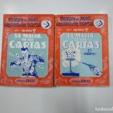 Libros de segunda mano: LA MAGIA DE LAS CARTAS. BIBLIOTECA JUEGOS PRESTIDIGITACION ILUSIONISMO I Y II VOL 3 4 POR WHO? TDK58. Lote 141196122
