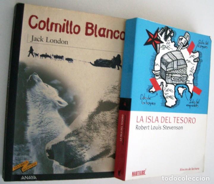 COLMILLO BLANCO + LA ISLA DEL TESORO (Libros de Segunda Mano - Literatura Infantil y Juvenil - Otros)