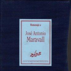 Libros de segunda mano - HOMENAJE A JOSÉ ANTONIO MARAVALL. 3 VOL. CON ESTUCHE - 141284330