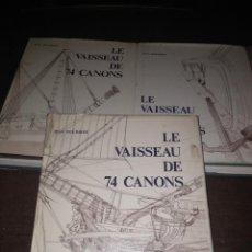 Libros de segunda mano: JEAN BOUDRIOT. LE VAISSEAU DE 74 CANONS 1977 3 TOMOS (DE 4) ARQUITECTURA NAVAL MARINA. Lote 141610770