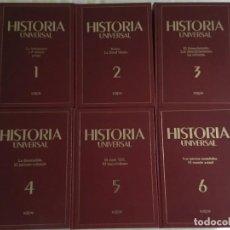 Libros de segunda mano: HISTORIA UNIVERSAL- SARPE 6 TOMOS (OBRA COMPLETA). Lote 141630774