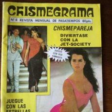Libros de segunda mano: CHISMEGRAMA PASATIEMPOS JET-SOCIETY FOTOGRAFÍAS FAMOSOS 1985. Lote 141633366
