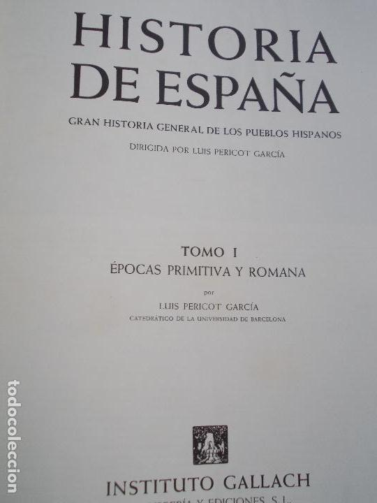 Libros de segunda mano: HISTORIA DE ESPAÑA 5 TOMOS INSTITUTO GALLACH - Foto 5 - 141874510