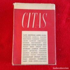 Libros de segunda mano: CITAS, VARIOS AUTORES, 1949 , 1 EDICIÓN, PORTADA DE S'WELL, 363 PÁGINAS, ENCUADERNADO EN PASTA DURA . Lote 141894670