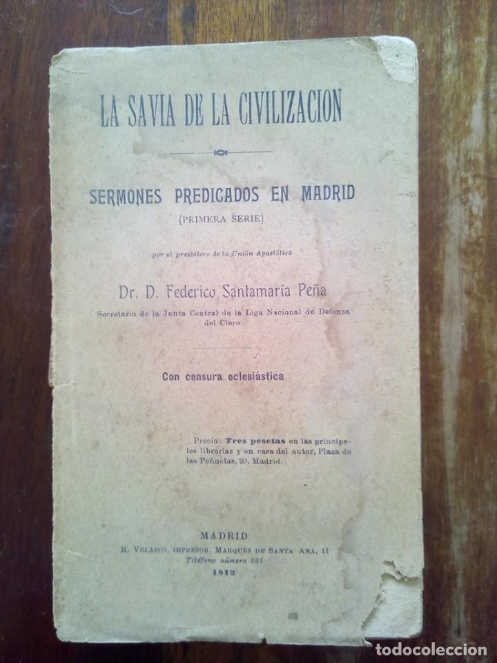 Libros de segunda mano: TUBAL 1912 SAVIA DE LA CIVILIZACION FEDERICO SANTAMARIA 19 CM 400 GRS - Foto 6 - 141911870