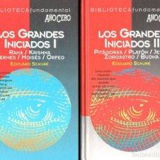 Libros de segunda mano: SCHURÉ : LOS GRANDES INICIADOS - DOS TOMOS (AÑO CERO, 1995). Lote 141932846