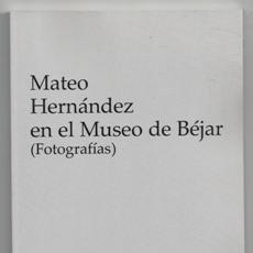 Libros de segunda mano: MATEO HERNÁNDEZ EN EL MUSEO DE BÉJAR (FOTOGRAFÍAS). Lote 142141506