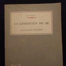 Libros de segunda mano: AZORÍN. LA GENERACIÓN DEL 98. BIBLIOTECA ANAYA. 1961.. Lote 142214794