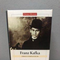 Libros de segunda mano: FRANZ KAFKA, NARRACIONES Y OTROS ESCRITOS. Lote 142692736