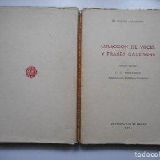Libros de segunda mano: FR. MARTIN SARMIENTO COLECCIÓN DE VOCES Y FRASES GALLEGAS Y91316. Lote 142701482