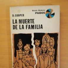 Libros de segunda mano: LA MUERTE DE LA FAMILIA (D. COOPER). Lote 142792250