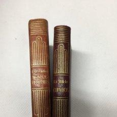 Libros de segunda mano: N0VELAS EJENPLARES MIGUEL DE CERVANTES 1944. Lote 142830230