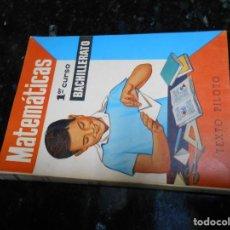 Libros de segunda mano: LIBRO ANTIGUO DE COLEGIO MATEMATICAS 1 CURSO DE BACHILLERATO AÑO1964. Lote 142908470