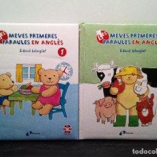 Libros de segunda mano: LES MEVES PRIMERES PARAULES EN ANGLES - EDICIÓN CATALÁN BILINGÜE 1 Y 2 CON CD (ENVÍO 4,31€). Lote 142925058