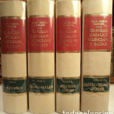 Libros de segunda mano: EL SOLAR CATALAN, VALENCIANO Y BALEAR -OBRA COMPLETA - GARCIA GARRAFA -. Lote 160295761