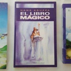 Libros de segunda mano: EL PASTOR Y LAS ESTRELLAS, EL LIBRO MAGICO, DESCUBRE TU DESTINO, LAS CLAVES DEL TAROT, 4 LIBROS. Lote 143001642