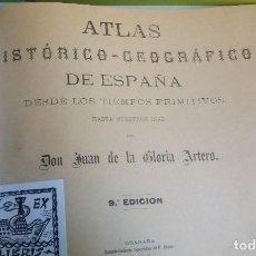 Libros de segunda mano: ATLAS HISTÓRICO-GEOGRÁFICO + GEOGRAFIA E HISTORIA DE ESPAÑA CUARTO GRADO 1920. Lote 143004126