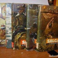 Libros de segunda mano: SALGARI / EDITORIAL MOLINO / LOTE 5 LIBROS. Lote 143027714