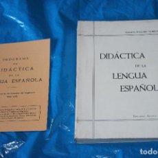 Libros de segunda mano: DIDACTICA DE LA LENGUA ESPAÑOLA, RAMON ESQUER, EDICIONES ALCALA 1968 (CON PROGRAMA). Lote 143042486