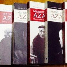 Libros de segunda mano: MANUEL AZAÑA. OBRAS COMPLETAS. EDICIÓN DE SANTOS JULIÁ. ( 7 VOLÚMENES). TAURUS. . Lote 143070674