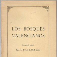 Libros de segunda mano: LUIS B. LLUCH MARIN ,LOS BOSQUES VALENCIANOS ,1957 . Lote 143129922