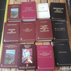 Libros de segunda mano: LOTAZO DE LIBROS DE LA HISTORIA DE CASTELLON. 12 LIBROS EN MUY BUEN ESTADO. TAPA DURA. PORTE 20€. Lote 143149158