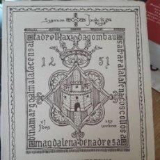 Libros de segunda mano: ANTIGUEDADES DE CASTELLON, FACSIMIL. AYTO. DE CASTELLON, 1982. MUY BONITO. Lote 143151398