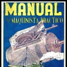 Libros de segunda mano: B1681 - EJEMPLAR DEDICADO POR EL AUTOR. MANUAL DEL MAQUINISTA PRACTICO. VALLES COLLANTES. MECANICA.. Lote 143262414
