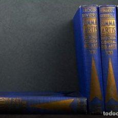 Libros de segunda mano: SUMMA ARTIS.HISTORIA GENERAL DEL ARTE.LOTE 2 VOLÚMENES.. Lote 155486836