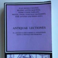 Libros de segunda mano: ANTIQUAE LECTIONES - VARIOS AUTORES - CÁTEDRA CRÍTICA Y ESTUDIOS LITERARIOS. Lote 143385958