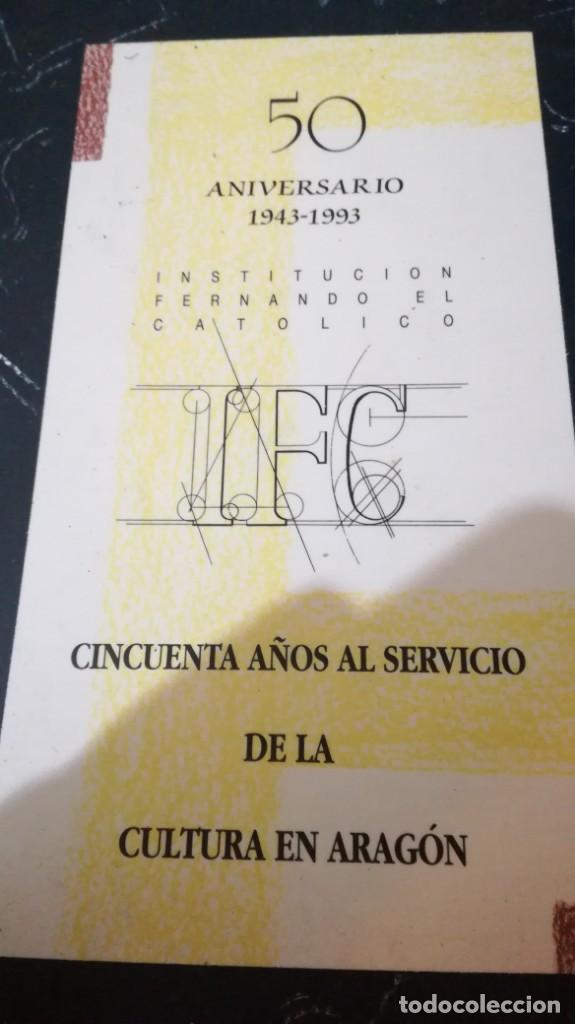 Libros de segunda mano: 50 AÑOS SERVICIO CULTURA ARAGÓN 1943-1993 INSTITUCIÓN FERNANDO EL CATÓLICO- 2 TOMOS EN ESTUCHE - Foto 2 - 143410890