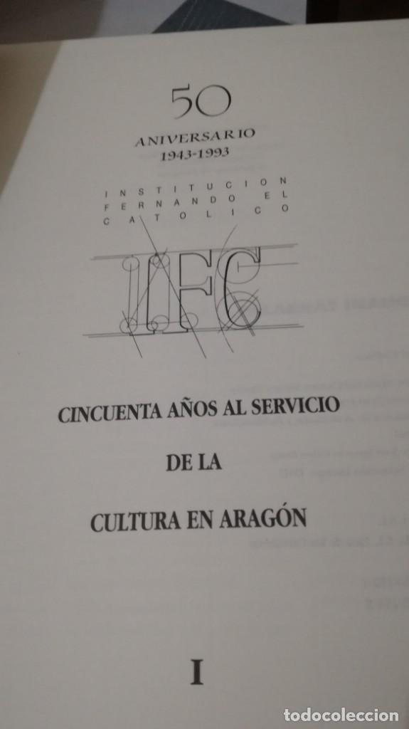 Libros de segunda mano: 50 AÑOS SERVICIO CULTURA ARAGÓN 1943-1993 INSTITUCIÓN FERNANDO EL CATÓLICO- 2 TOMOS EN ESTUCHE - Foto 6 - 143410890