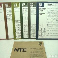 Libros de segunda mano: 1973-12 LAMINAS NTE-NORMATIVA TECNOLOGICA DE EDIFICACION-EHU ESTRUCTURAS DE HORMIGON ARMADO FORJADOS. Lote 143564078