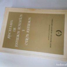 Libros de segunda mano: LIBRO DE MISCELANEA DE ESTUDIOS RONDEÑOS Y OTROS ESTUDIOS. Lote 143912102